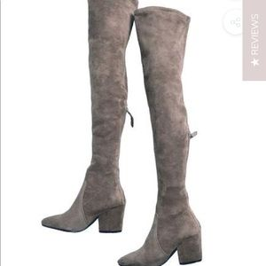 **BRAND NEW*** Over the Knee Gray Suede Boots